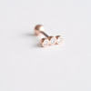 Stone Rose Gold Cartilage Earring_P049