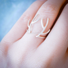 antler ring in sterling silver 925