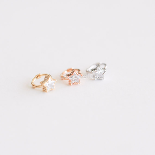 CZ Mini Star Tragus Earring_P017