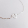 Diamond Shape Bracelet in gold or silver, diamond bracelet, casual bracelet, layering bracelet