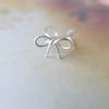bow ear cuff, bow ear wrap, bow cartilage cuff, ribbon ear cuff