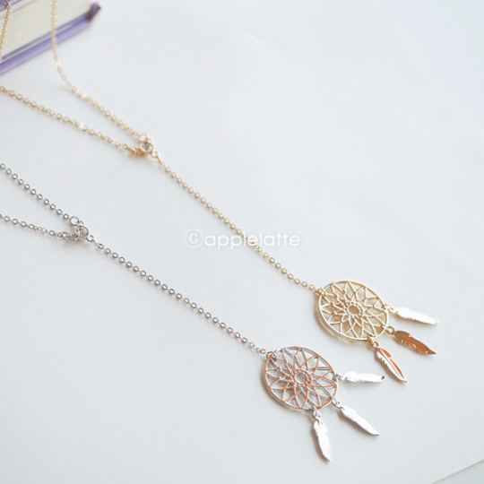 Long Dream Catcher Necklace