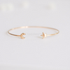 Star & Crescent Moon bracelet in gold or silver, dainty star cuff, moon bangle, stacking bracelet, bridesmaid gift, minimal bracelet