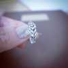 feather ring in sterling silver 925, leaf ring, feather leaf ring