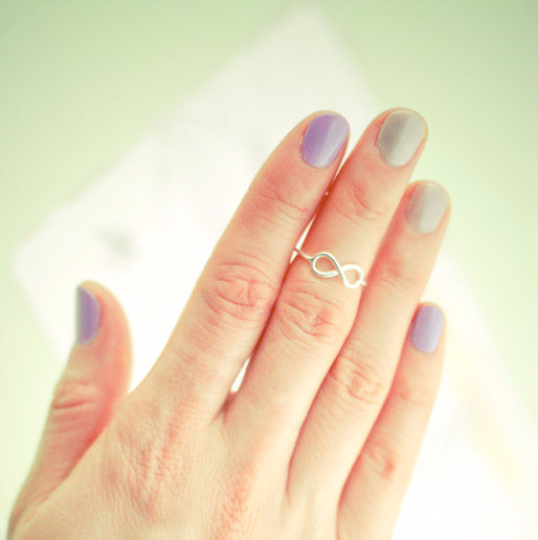 infinity knuckle ring/ infinity toe ring / infinity pinky ring in sterling silver 925