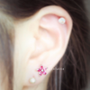 Hot Pink Flower Barbell Cartilage_P052