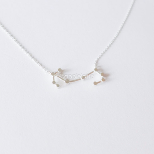 Scorpio Zodiac Sign Necklace In Sterling Silver 925, The Scorpion necklace