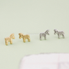 tiny zebra earrings in gold or silver