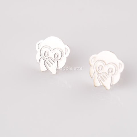 Speak-no-evil Monkey Emoji Earrings