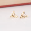 Antler Face Rudolph Stud Earrings