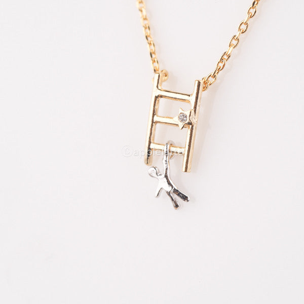 Stairway to Heaven Ladder Man Necklace