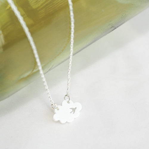 16 Silver Plated Pendant AppleLatte Circle Necklace