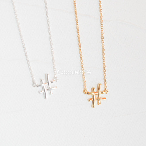 Hashtag Sign Necklace