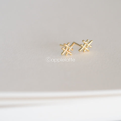 Hashtag Sign Earrings