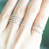 simple four-banded body ring