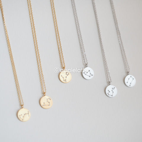 Cubic Zodiac Sign Necklace