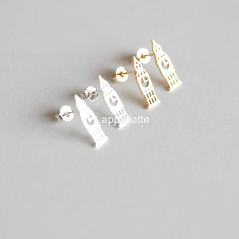 Big Ben Studs, London Post Earrings