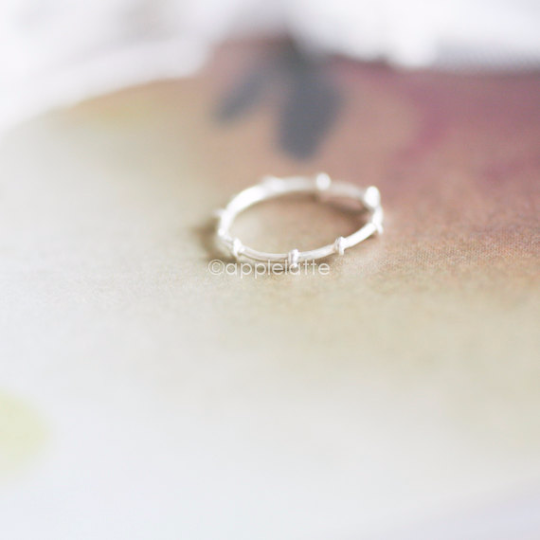 branch knuckle ring, sterling knuckle ring, pinky ring, skinny ring, stackable bands