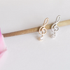 Tiny Treble Clef Post Earrings, Music Note Earrings, Treble Clef Jewelry, Musician Jewelry, Music Lovers, Music Earrings