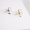 double Chevron Ring in gold/silver/rose gold, simple V ring, geometric ring, triangle ring, casual ring
