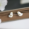 cute dove earrings, bird post earrings, lovebirds earrings
