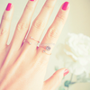 Dainty CZ Rose Ring