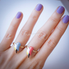 bird ring, blue bird ring, red bird ring, skylark ring, colorful bird jewelry