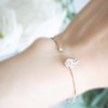 swarovski crystal penguin cuff, penguin bracelet, dainty cuff, stacking bangle, bridesmaid gift, minimal bracelet, animal jewelry