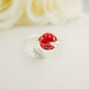 tiny red ladybug ring us size 5 - 8