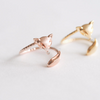 fox ring, fox tail ring,gold fox ring,silver fox ring,rose gold fox ring,pink fox ring,fox jewelry,animal ring,fox,