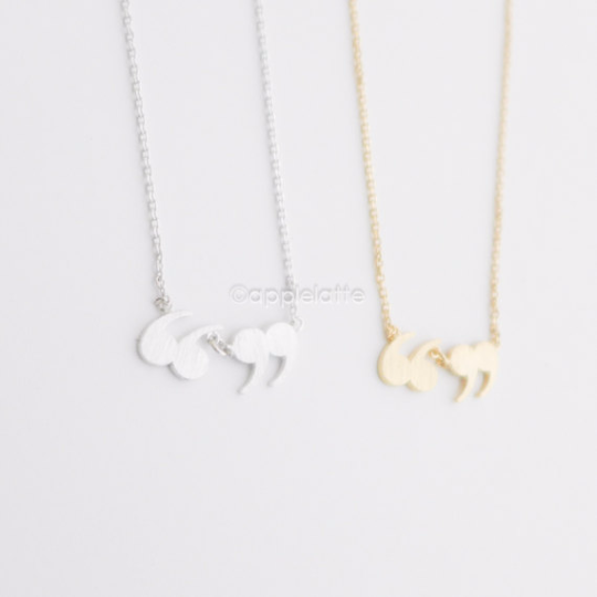 Quotation Marks Necklace