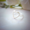 Open Heart Ring, heart knuckle ring in gold or silver, adjustable ring, heart ring, heart jewelry