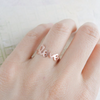 love ring with twisted ringband us size 5 - 9