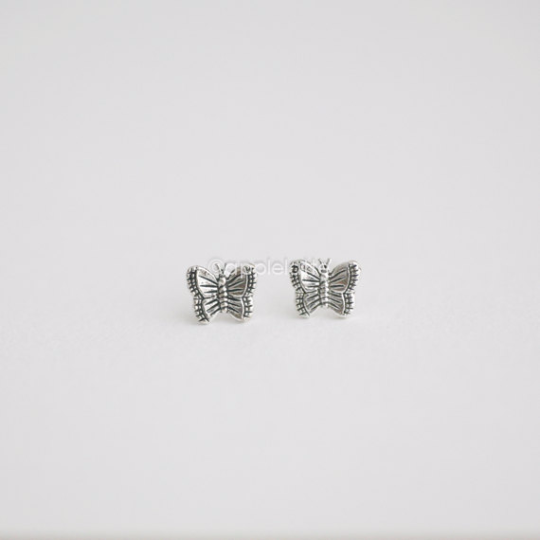 Sterling silver Butterfly Post Earrings, Butterflies earrings, Bridesmaid gift, sterling silver 925 earrings