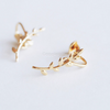 Laurel leaf ear cuff, leaf ear wrap, leaf cartilage cuff, laurel leaf ear clips, non pierced earrings_1 pair