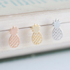 pineapple earrings, pineapple studs, pineapple post earrings, pineapple jewelry, fruit jewelry