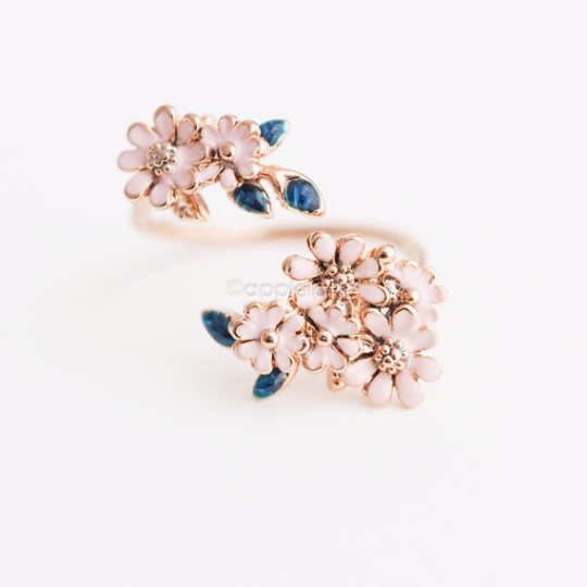 Dainty flower ring pink floral ring sweet nature ring pink flower dainty flower ring pink floral ring sweet nature ring pink flower ring mightylinksfo