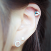 CZ Triangle Cartilage Earring_P022