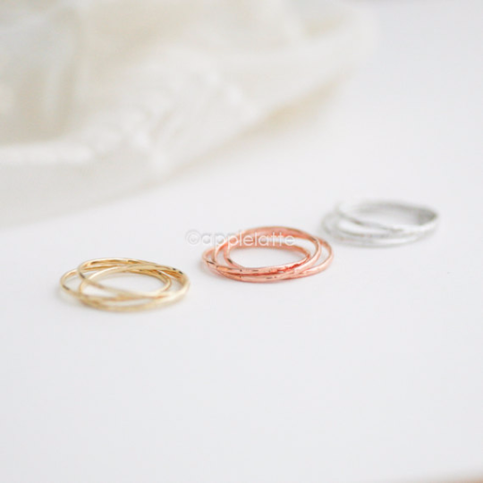 3 rings as one, thin slim band