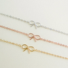 tiny small cute bow bracelet gold / silver / rose gold