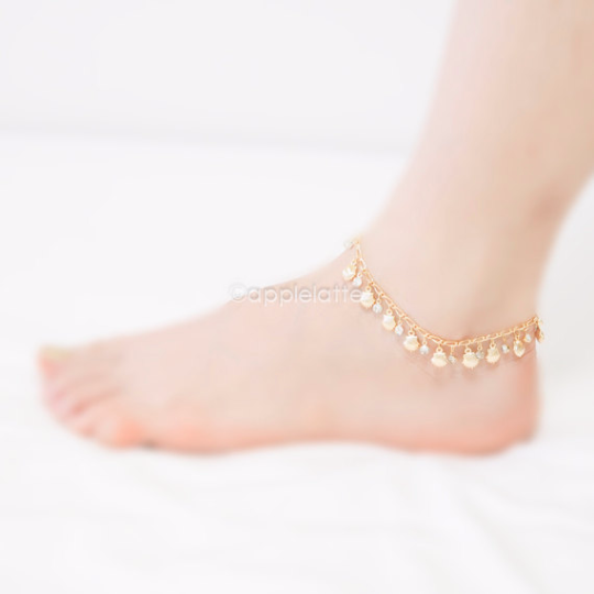 itm bracelet chain anklet jewelry charm ankle foot women fashion gold silver sandal