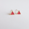 tiny triangle earrings,pink/mint green/white/black/red