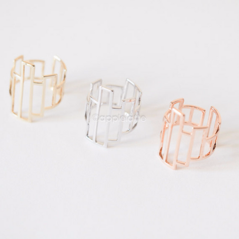 asymmetrical geometric ring