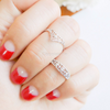 Lace Chevron knuckle Ring