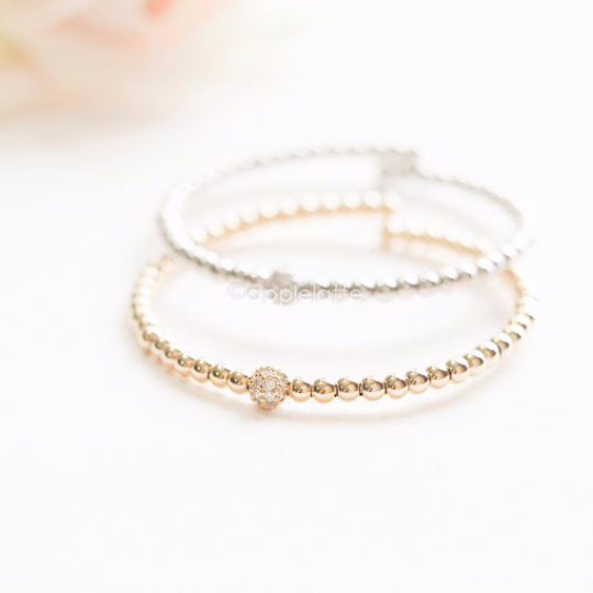 ball bracelet in gold or silver, dainty cuff, stacking bangle, bridesmaid gift, minimal bracelet, ball bangle, ball cuff
