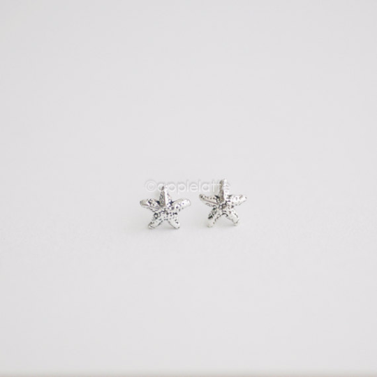 Starfish Earring Studs in sterling silver 925, tiny post earrings, Starfish Earrings, Nautical Earrings, Starfish Jewelry, Beach Wedding