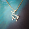 Origami Deer Necklace