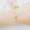 tiny infinity bracelet in gold / silver / rose gold