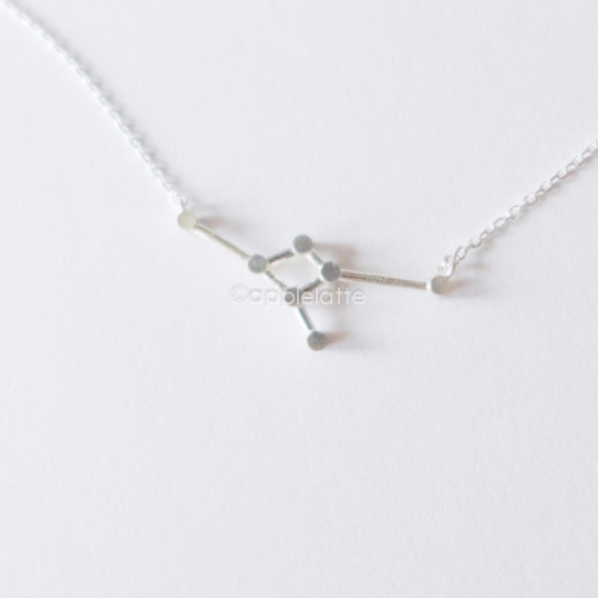 Cancer Zodiac Sign Necklace in sterling silver 925, The Crab Necklace