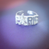 Paris ring in sterling silver 925, Eiffel tower ring, France ring, love ring, romance ring